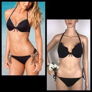 VS The Fabulous Push Up Black Bikini Top 34DD